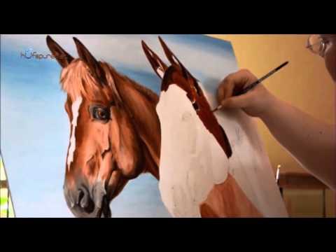 Pferde malen… Pferdemalerei Hufspuren