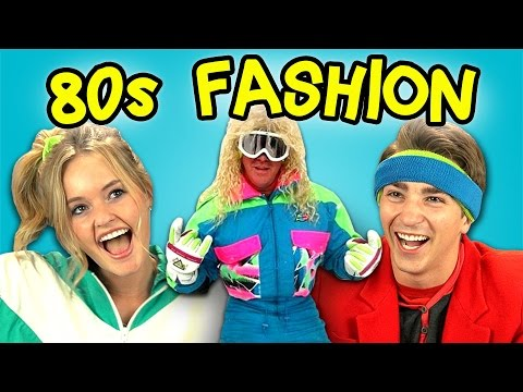 Fashion - 80's Fashion Bonus video on the REACT channel: http://goo.gl/wiwHu7 Watch all main React episodes (Kids/Teens/Elders/YouTubers): http://goo.gl/4iDVa Support ...