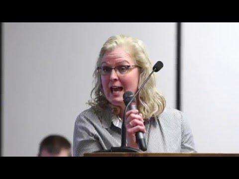 Ellington Township Planning Commission meeting re: NextEra's planned Tuscola III wind farm(3.9.16)