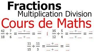Maths 6ème - Fractions multiplication et division Exercice 5