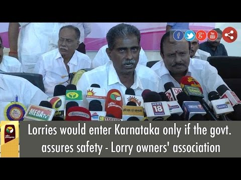 Lorries-would-enter-Karnataka-only-if-the-govt-assures-safety--Lorry-owners-association
