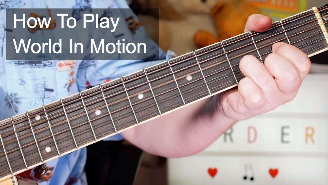 'World In Motion' New Oder Acoustic Guitar Lesson