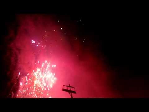 Fogos de artifício no rodeio em ferros MG