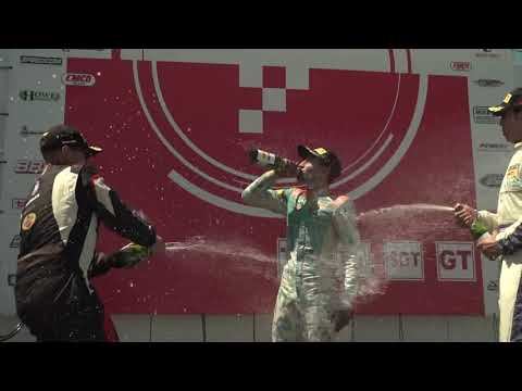 Champagne Showers on TA Podium