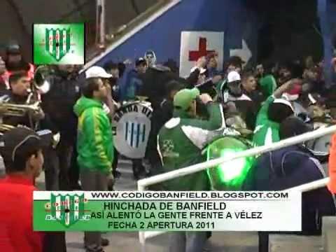 Hinchada de Banfield: Así alentó la gente al equipo frente a Vélez Sarsfield 15/08/11 - La Banda del Sur - Banfield