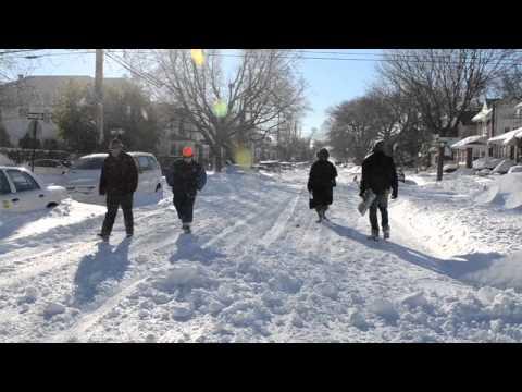 Scenes of the blizzard