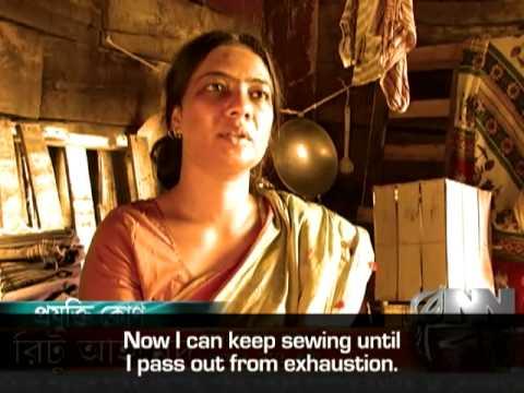 Přenosný šicí stroj usnadňuje dělníkům životy