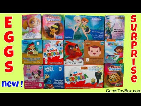 Chocolate Surprise Eggs Emoji Paw Patrol Minnie Mouse Despicable Me 3 Disney Frozen Dora the Explore