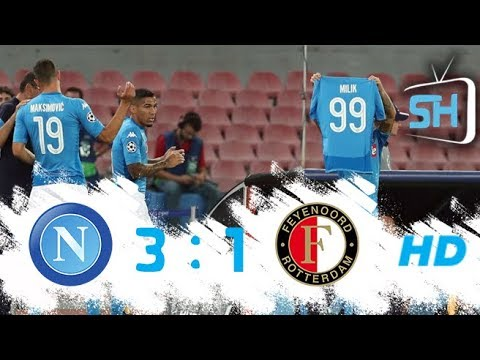 Napoli vs Feyenoord 3-1 Champions League All Goals and Highlights September 26,2017