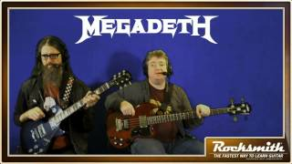 """This week we tackle blazing fast solos and crushing riffs from legendary metal pioneers Megadeth! Join the Rocksmith 2014 team as they rock out to """"Holy Wars..."""