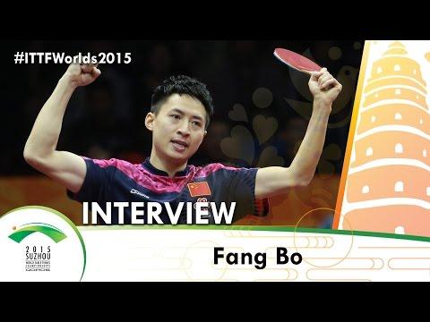 Fang Bo - Qoros 2015 World Table Tennis Championships Interview