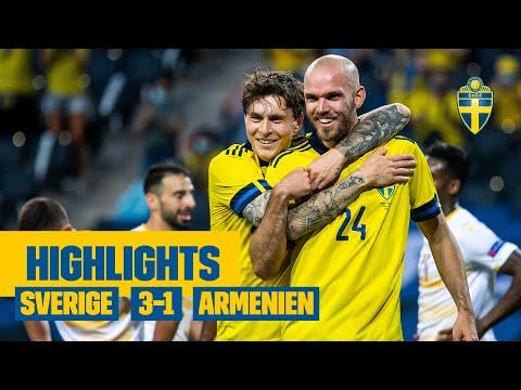 Highlights: Sverige - Armenien | EM-genrep | Sista matchen innan EM!