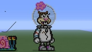 Minecraft Pixel Art: Sandy Cheeks Tutorial (Spongebob Squarepants)