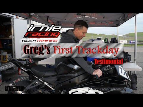 """Greg's First Trackday"" Irnieracing Rider Training Testimonial"