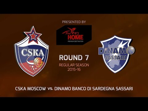 Highlights: RS Round 7, CSKA Moscow 93-87 Dinamo Sassari