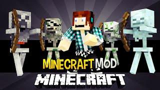 Minecraft: Irmão do herobrine ?! ( Esqueleto Herobrine, Esqueleto Creeper) - Mo Skeletons Mod
