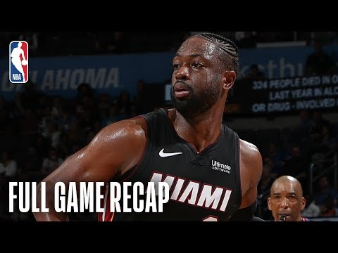 HEAT vs THUNDER | Dwyane Wade Goes For 25 Points In OKC | March 18, 2019