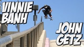 WATCH MORE VIDEOS HERE !!!https://www.youtube.com/watch?v=PkQMGfbCmDYIn today's vide we go skating with John Getz, Vinnie Banh & Hayden Estrada around Long Beach and the south bay. These kill off a bunch off spots and parks. If you enjoyed the video shoot us a like. Thanks Yo !!!SUBSCRIBE TO VINNIE BANH !!!https://www.youtube.com/channel/UCG0t1P17afwcH_kKswYwMnAFOLLOW US ON INSTAGRAM !!! https://www.instagram.com/nkavids/https://www.instagram.com/vinniebanh/https://www.instagram.com/john_getz/https://www.instagram.com/haydenestrada/FOLLOW MY OTHER PAGES !!!https://www.facebook.com/nkalexander7https://twitter.com/nigelalexander7I've been filming skateboarding since 1995.    :]I started a Youtube Channel right when Youtube started I just thought it was the coolestthing that we could just show everyone any of our skate videos and we didn't have to sell them.Youtube is my full time job and I love it. I have worked for such companies as Nike SB, Street League, Mountain Dew, Gatorade, AT&T, Plan B Skateboards, Woodward Camps, Network A, GoPro, Primitive Skateboarding & Many more. Please subscribe if you guys like the videos. Thanks Yo.SUBSCRIBE FOR MORE VIDEO'S ?http://www.youtube.com/channel/UCusD6cPVuc9F9m3L50jCNiA?sub_confirmation=1BUY MARKISA GEAR HERE !!!http://shop.markisaco.com/#Skate #Skateboard #Skateboarding #Nka #Vids #NKAVIDS #Nigel #NigelAlexander #Thrasher #Berrics #Ride #RdeChannel