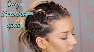 Easy braided up-doo + Mini Morphe Review