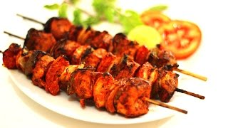 Chicken Tikka Kabab Recipe (Indian Non Veg Starter) - Chicken Recipe