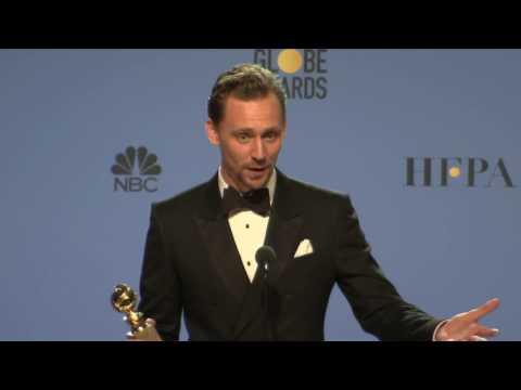 Golden Globes 2017 Tom Hiddleston Backstage Interview (видео)
