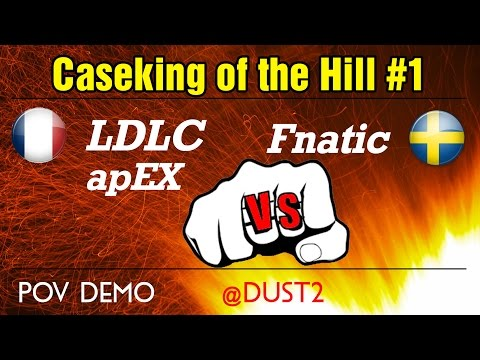 LDLC apEX vs Fnatic @dust2 (POV) Caseking of the Hill #1