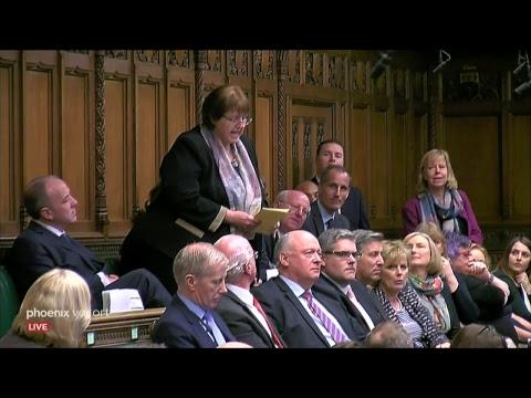 Fragestunde im britischen Unterhaus zum Brexit am 03. ...