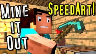"""Mine It Out"" Minecraft Parody - Speed Art!"