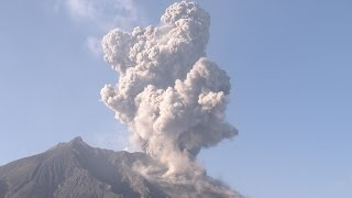 Explosive Eruptions, Shock Waves, Flying Lava Bombs - Sakurajima Volcano 4K Stock Footage Screener