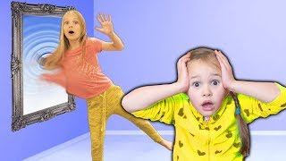 Video Amelia and Avelina Compilation Tuesday with a magic mirror to indoor playground adventure MP3, 3GP, MP4, WEBM, AVI, FLV Agustus 2018