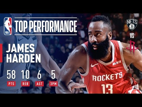 Video: James Harden GOES OFF For 58 Points Against Brooklyn | January 16, 2019