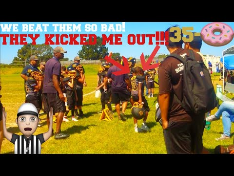 They kicked me out of the football game! Football Vlog, we beat them bad!