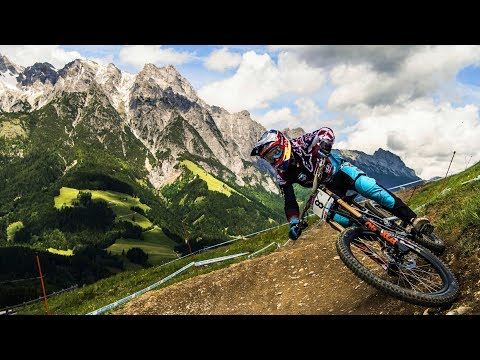 Aaron Gwin Three-Peats in Leogang: Winning Run UCI MTB World Cup 2017