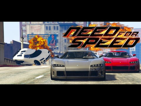 GTA V Need For Speed 2014 Movie - Koenigsegg Race PS4