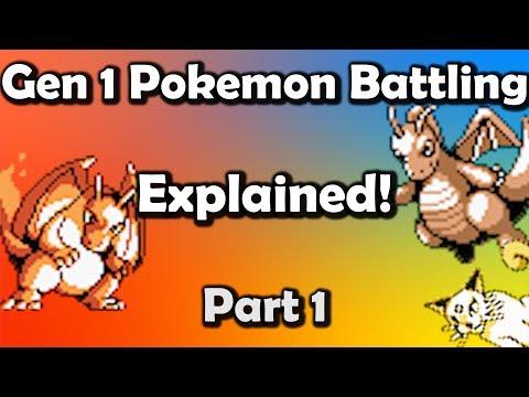 Gen 1 Pokemon Battling EXPLAINED Part 1 - Core Mechanics (видео)