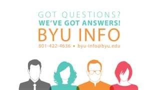 This video promotes the service offered by the BYU Campus Operators (BYU INFO), a service of the Office of Information...