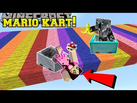 Minecraft: MARIO KART RACE!!! (POWER UPS, NEW RACES, & MORE!) Mini-Game (видео)