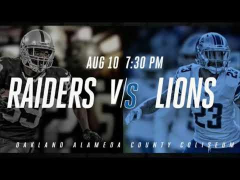 (Detroit Lions NSE) Raiders vs. Lions  Aug 10 2018