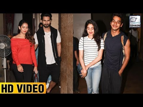 Jhanvi Kapoor, Ishaan Khattar And Shahid Kapoor At