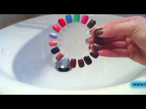 incredibile smalto che cambia colore con l'acqua!