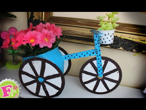 diy – bicycle shaped flower pot