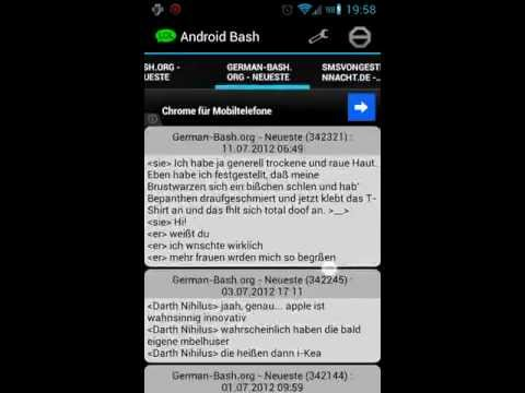 Video of Bashs on Android