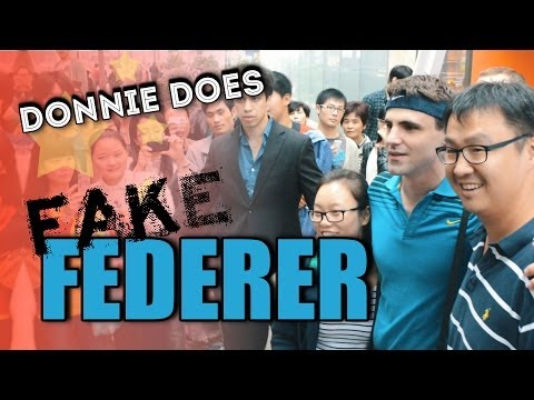 does - Donnie hits the streets of Shanghai as Roger Federer to see if all Chinese people think white guys look the same. Follow Donnie! Facebook: http://www.faceboo...