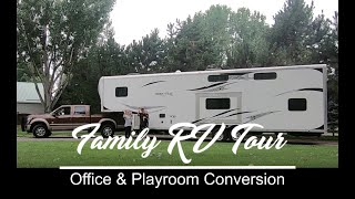 Family RV Tour: Office & Playroom Conversion