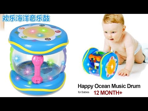 Happy Ocean Music Drum Touch Multi Functional 7 Games Learning Drum For Babies