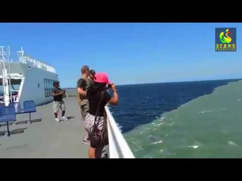Ocean Border | Rare View | Atlantic and Pacific Ocean | Mid Point View