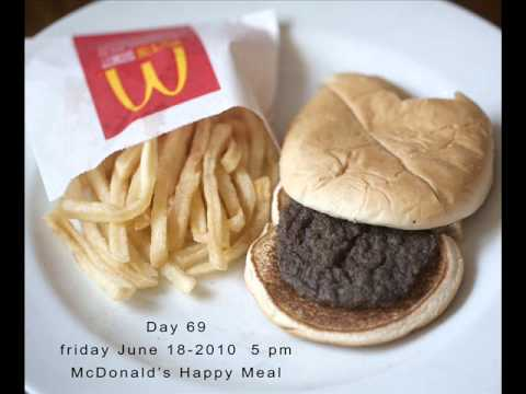 decompose - McDonald's Happy Meal resists decomposition for six months http://tinyurl.com/29l3pve http://www.flickr.com/photos/sallydavies/sets/72157624739645253/