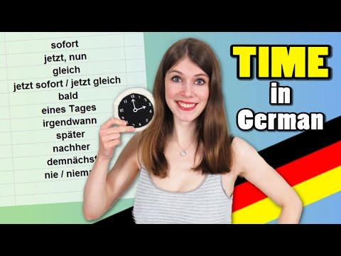 TIME in German - When is GLEICH and when is SPÄTER? (видео)