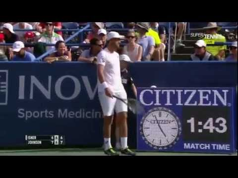 tie break infinito, john isner vs steve johnson atp washington 22/07/16