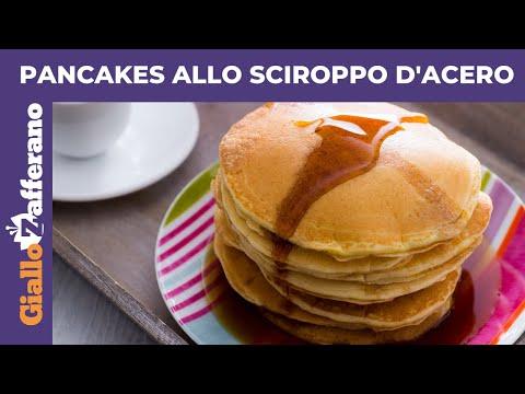 PANCAKES ALLO SCIROPPO D'ACERO: ricetta originale facile